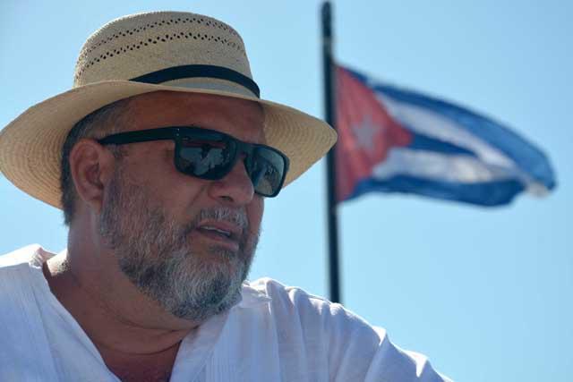 Manuel Marrero, ministro de turismo de Cuba, durante la presentación de la ciudad Gibara como destino turístico, como parte de la Feria Internacional de Turismo FITCUBA-2017, en la oriental provincia Holguín, el 2 de mayo de 2017. ACN FOTO/Juan Pablo CARRERAS/ogm